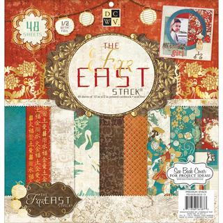 Far East 2 Paper Stack 12 X12 48/Sheets - 24 Designs/2 Each, 12 W/Foil