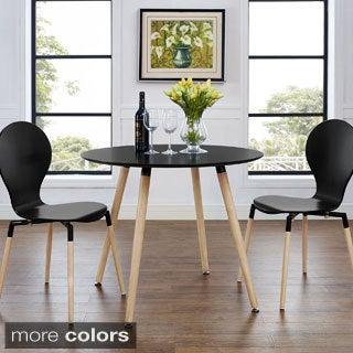 Track Circular Black/ Natural Dining Table