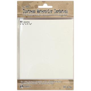 Ranger Distress Watercolor Cardstock 20/Pkg - 4.25 X5.5