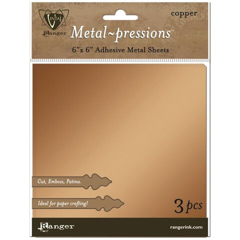 Ranger Vintaj Copper Foil Sheets 3/Pkg - 6 X6