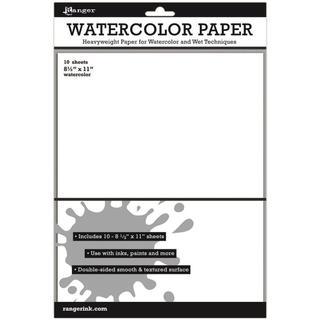 Ranger Surfaces Watercolor Paper 10/Pkg - 8.5 X11