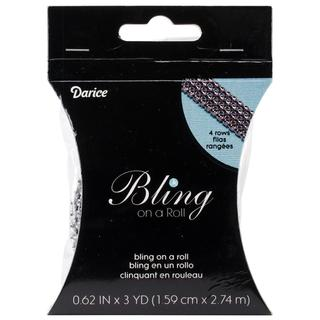 Bling On A Roll 3mm X 3yds - 4 Line, Silver