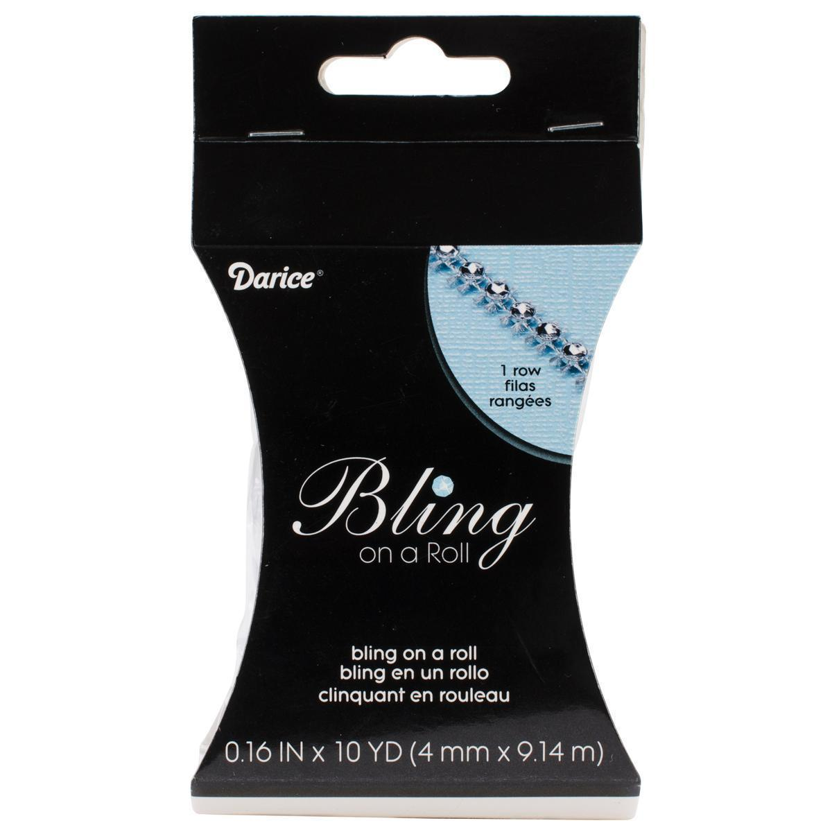 DARICE Bling On A Roll 4mm X 10yds - 1 Row, Silver (Stone)