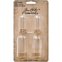 Tim Holtz Idea-Ology Corked Domes 4/Pkg - .75 X1.75  & 1 X2.25