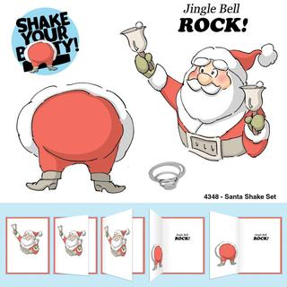 Art Impressions Christmas Cling Rubber Stamp Set 8 X4 - Santa Shake
