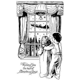 Crafty Individuals Unmounted Rubber Stamp 4.75 X7 Pkg - Waiting For Santa