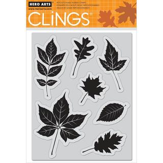 Hero Arts Cling Stamps 5 X6.5  Sheet - Scattering Leaves