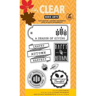 Hero Arts Clear Stamps 4 X6  Sheet - Autumn Leaves