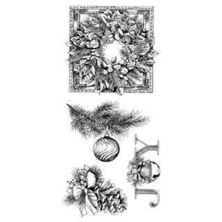 Inkakinkado Christmas Clear Stamps 4 X8 Sheet - Evergreen Holiday
