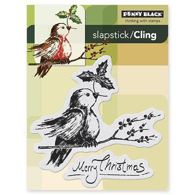 Penny Black Cling Rubber Stamp 4 X5.25 Sheet   Robins Wish