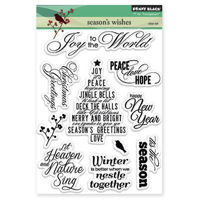 Penny Black Clear Stamps 5 X6.5 Sheet - Season's Wishes
