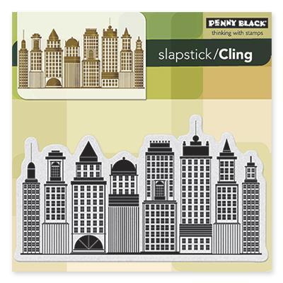 Penny Black Cling Rubber Stamp 5 X5 Sheet   Skyline