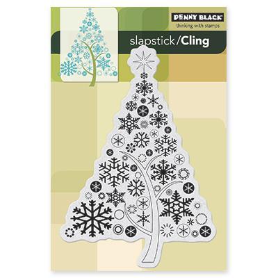 Penny Black Cling Rubber Stamp 4 X6 Sheet   Snowlight