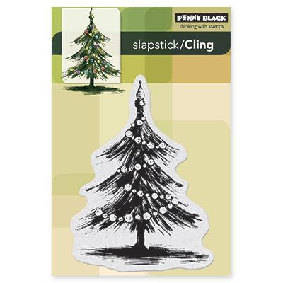Penny Black Cling Rubber Stamp 4 X6 Sheet   Tannenbaum