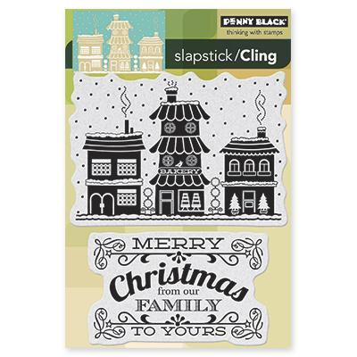Penny Black Cling Rubber Stamp 4 X6 Sheet   Winter Village