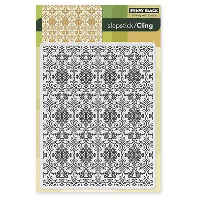 Penny Black Cling Rubber Stamp 5 X7.5 Sheet   Decadence