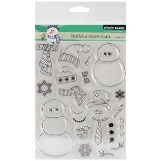 Penny Black Clear Stamps 5 X6.5  Sheet - Build-A-Snowman