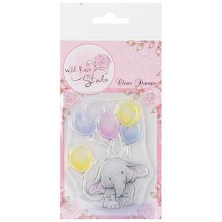 Wild Rose Studio Ltd. Clear Stamp 3.5 X3 Sheet - Bella W/Balloons