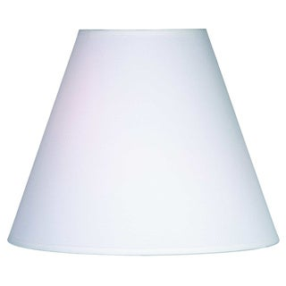 Design Match 14-inch White Linen Round Shade