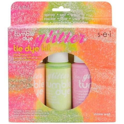 Tumble Dye Craft & Fabric Tie Dye Kit 2oz 3/Pkg - Glitter Neon