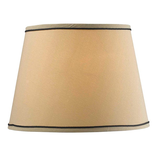 design match 15 inch taupe tapered drum shade free shipping on. Black Bedroom Furniture Sets. Home Design Ideas