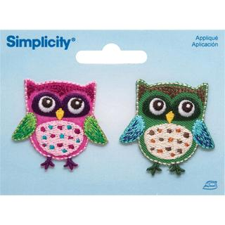 Owls Iron On Applique - 1-3/4 X1-1/2 2/Pkg