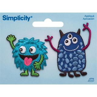 Friendly Monsters Iron On Applique - 2 X2-7/8 2/Pkg