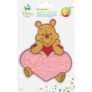 Disney Winnie The Pooh Pooh W/Heart Iron-On Applique -
