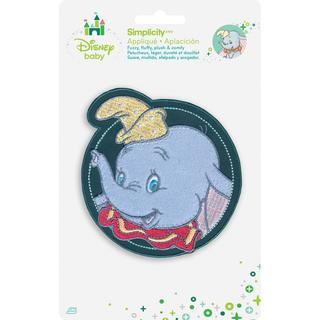 Disney Dumbo In Circle Iron-On Applique -