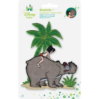 Disney Jungle Book Mowgli With Baloo Iron-On Applique -