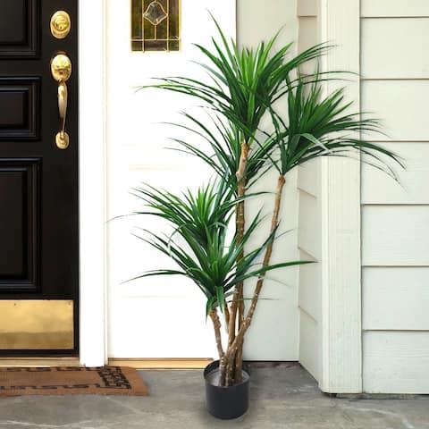 Romano 51-inch Indoor/ Outdoor UV Resistant Tropical Yucana Tree