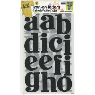 Soft Flex Iron-On Letters 3 John Hancock - Black 3/Sheets