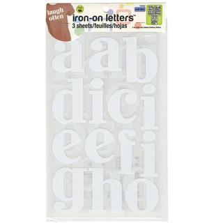 Soft Flex Iron-On Letters 3 John Hancock - White 3/Sheets