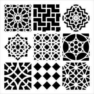 Crafter's Workshop Templates 6 X6 - Moroccan Tiles