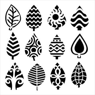 Crafter's Workshop Templates 6 X6 - Abstract Leaves