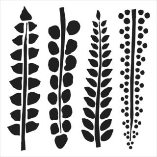 Crafter's Workshop Templates 6  X6   - 4 Ferns