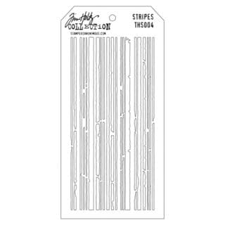 Tim Holtz Layered Stencil 4.125  X8.5   - Stripes