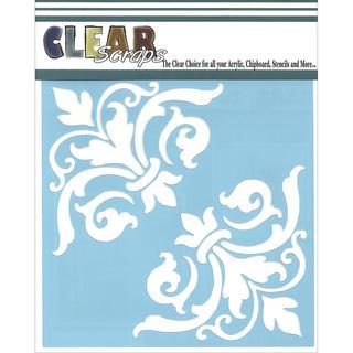 Clear Scraps Stencils 6 X6 - Corner Flourish