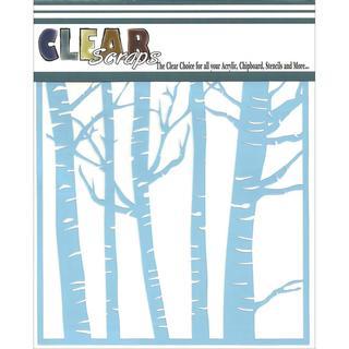 Clear Scraps Stencils 6 X6  - Forest