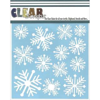 Clear Scraps Stencils 6 X6 - Nordic Snowflakes