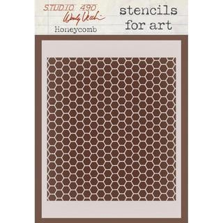 Wendy Vecchi Studio Stencil Collection 6.5 X4.5  - Honeycomb