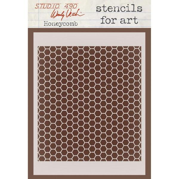 Wendy Vecchi Studio Stencil Collection 6.5 X4.5 - Honeycomb