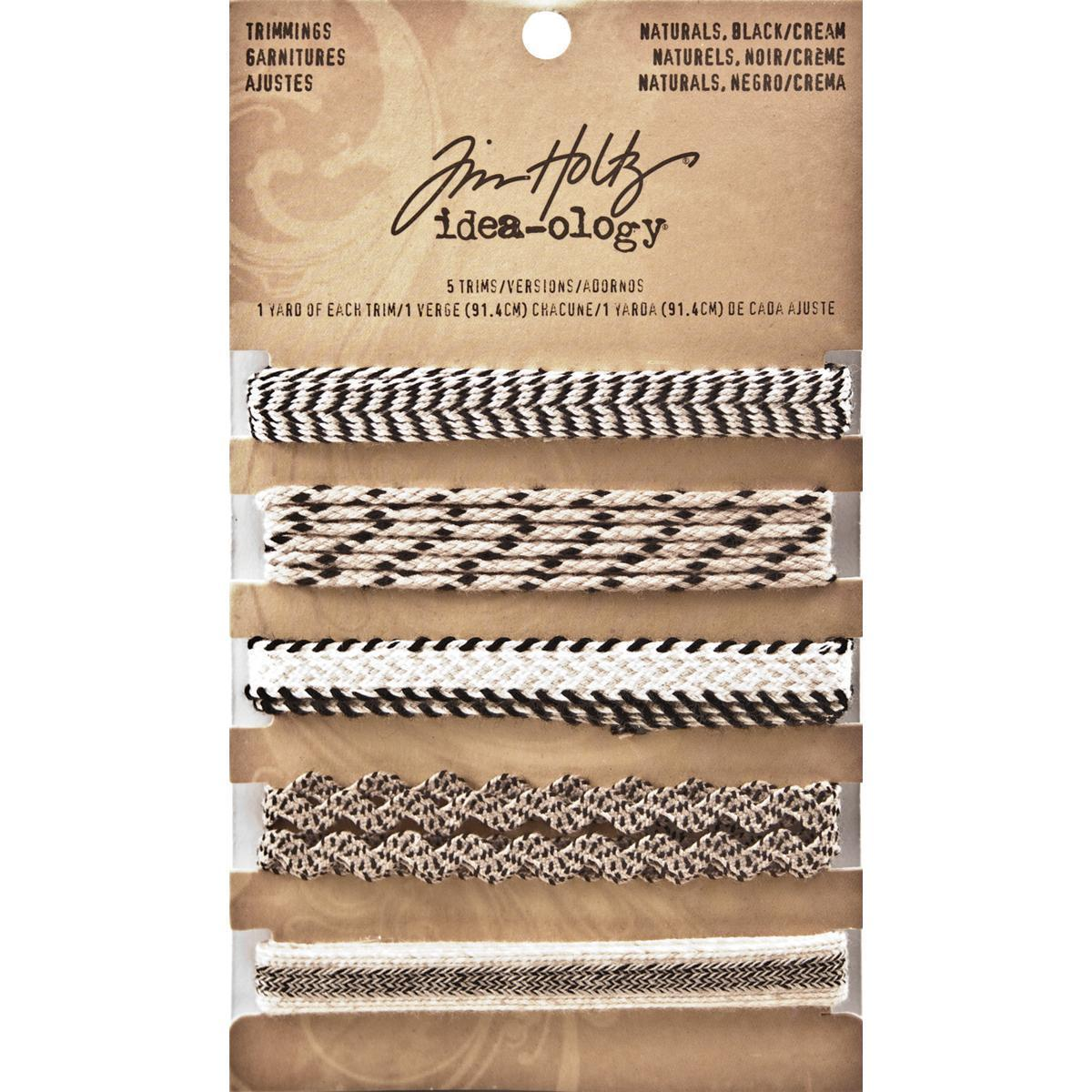 Tim Holtz Idea-Ology Naturals Trimmings 5 Styles/1 Yard E...