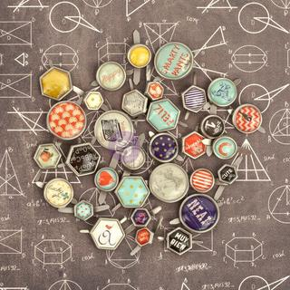 School Memories Decorative Metal Brads 32/Pkg -