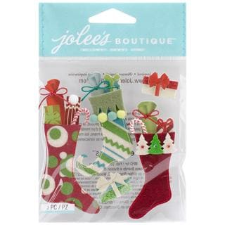 Jolee's Christmas Stickers - Stuffed Stockings