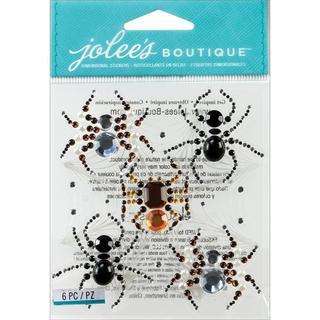 Jolee's Halloween Stickers - Beaded Spiders