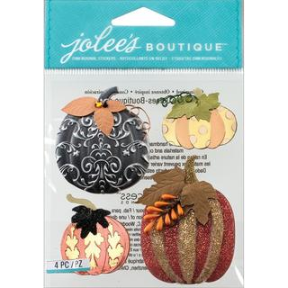 Jolee's Halloween Stickers - Metallic Pumpkins
