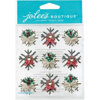 Jolee's Christmas Stickers - Wooden Snowflakes