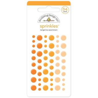 Monochromatic Sprinkles Glossy Enamel Arrow Stickers 54/Pkg - Tangerine