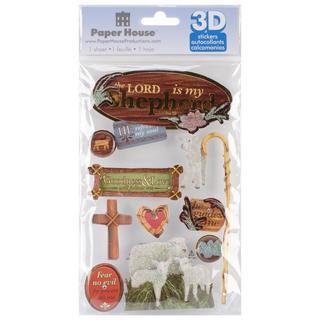 Paper House 3-D Sticker - Lord Is My Shepherd